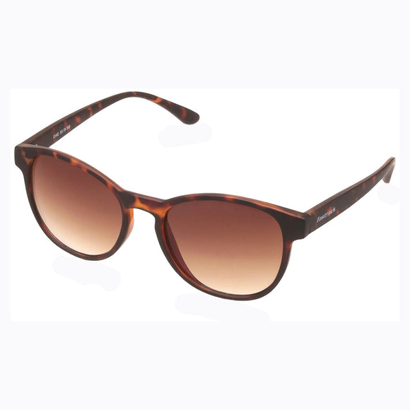 Fastrack P360BR4 Round Sunglasses Size - 53 Tortoise / Brown
