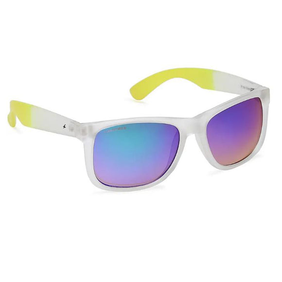 Fastrack P366GR2 Square Sunglasses Size - 55 White / Blue Mirrored