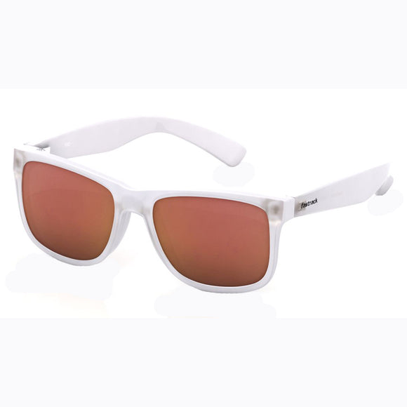 Fastrack P366RD4 Wayfarer Sunglasses Size - 55 White / Red