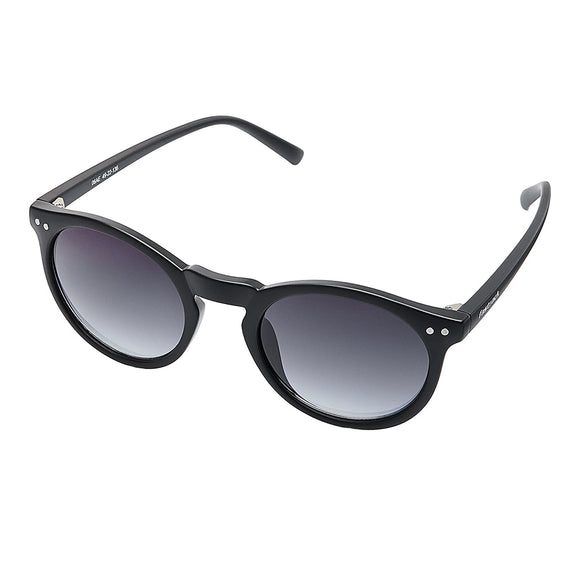 Fastrack P383BK2 Round Sunglasses Size - 49 Black / Grey