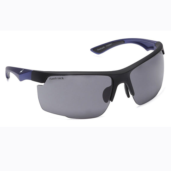 Fastrack P385BK1 Sports Sunglasses Size - 72 Black / Black
