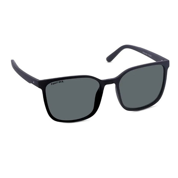 Fastrack P408GR1 Square Sunglasses Size - 55 Black / Green