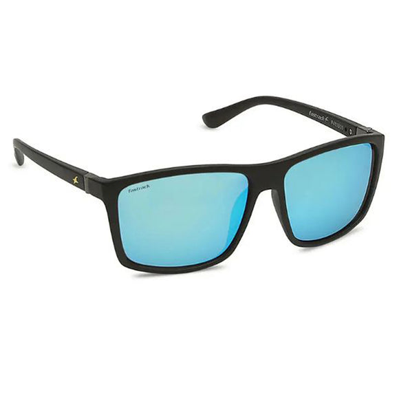 Fastrack P410BU5 Square Sunglasses Size - 58 Black / Blue