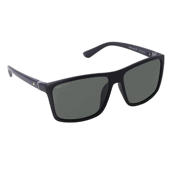 Fastrack P410GR1P Square Polarized Sunglasses Size - 58 Black / Green