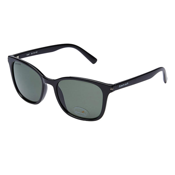 Fastrack P418GR1 Square Sunglasses Size - 55 Black / Green