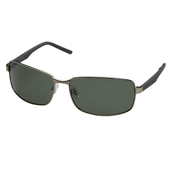 Polaroid PLD-2045S-6LB-UC-63 Rectangle Sunglasses Size - 63 Gunmetal / Green