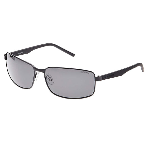 Polaroid PLD 2045S 807/M9 Rectangle Sunglasses Size - 63 Black / Silver Mirror