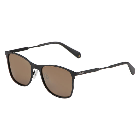 Polaroid PLD-2051S-807-LM-54 Square Polarized Sunglasses Size - 54 Black / Brown