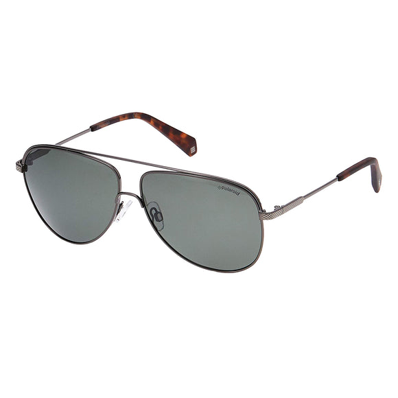 Polaroid PLD-2054-KJ1-UC-60 Aviator Sunglasses Size - 60 Gunmetal / Grey
