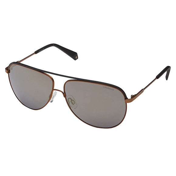 Polaroid PLD-2054S-210-LM-60 Aviator Sunglasses Size - 60 Brown / Silver Mirror