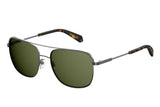 Polaroid PLD-2056S-KJ1-UC-58 Square Polarized Sunglasses Size - 58 Silver / Green
