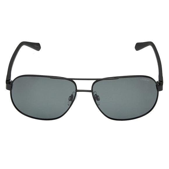 Polaroid PLD-2059S-003-M9-60 Rectangle Sunglasses Size - 60  Black / Black