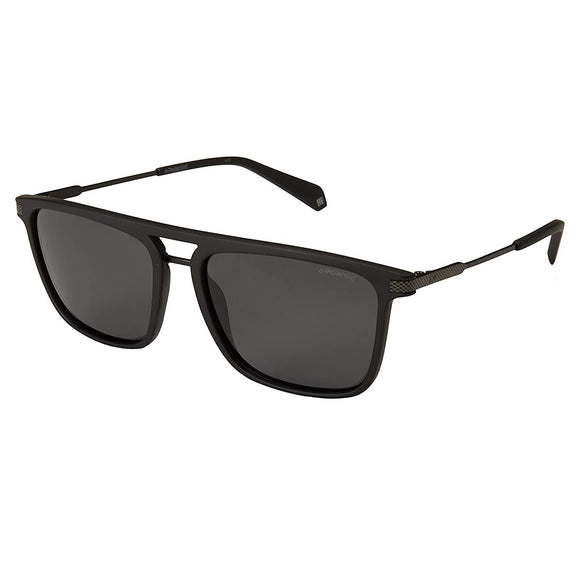 Polaroid PLD-2060S-003-M9-56 Square Sunglasses Size - 56 Black / Grey