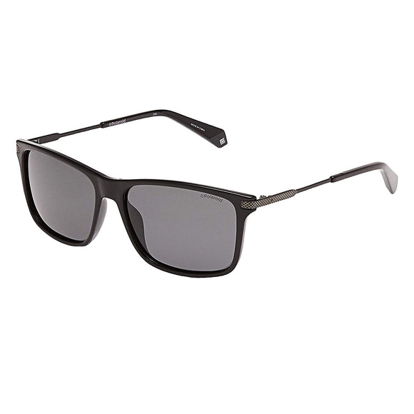 Polaroid PLD-2063S-003-M9-58 Square Sunglasses Size - 58 Black / Black