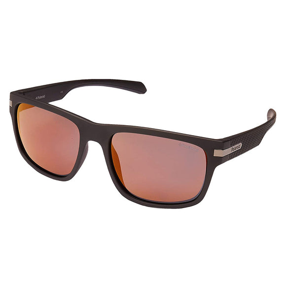 Polaroid PLD-2066S-003-OZ-55 Square Sunglasses Size - 55 Brown / Red