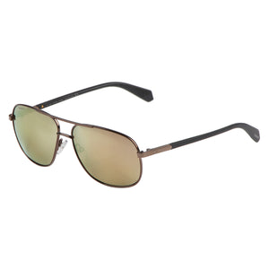 Polaroid PLD-2074SX-09Q-LM-60 Aviator Polarized Sunglasses Size - 60 Brown / Gold Mirrored
