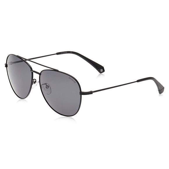 Polaroid PLD-2083GS-807-M9-62  Aviator Sunglasses Size - 62 Black / Black