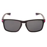 Polaroid PLD-2088S-N6T-M9-55 Rectangle Sunglasses Size - 55 Matte Black / Gray