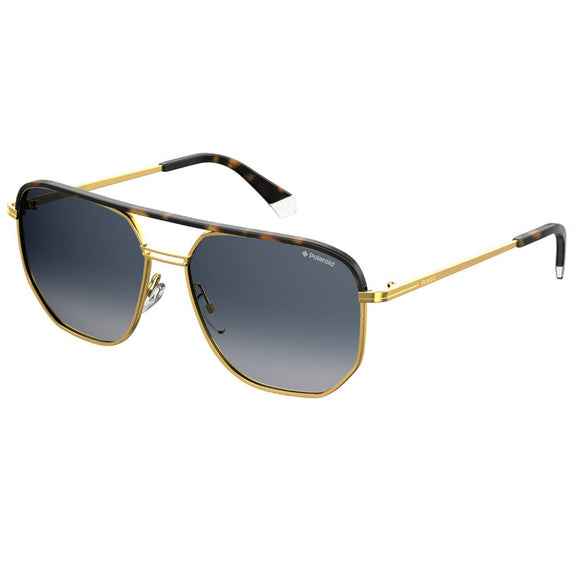 Polaroid PLD-2090/S/X-H8D-Z7-58 Square Sunglasses Size - 58 Gold / Blue Gradient