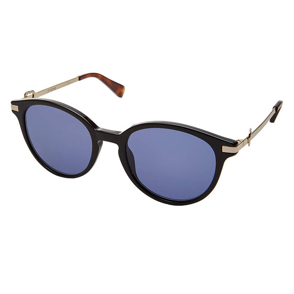 Polaroid PLD-2091S-003-M9-50 Round Sunglasses Size - 50 Black / Blue