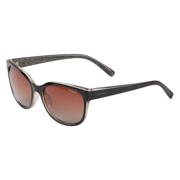 Polaroid PLD-4030S-6AR-LA-55 Cat-Eye Polarized Sunglasses Size - 55 Black / Brown