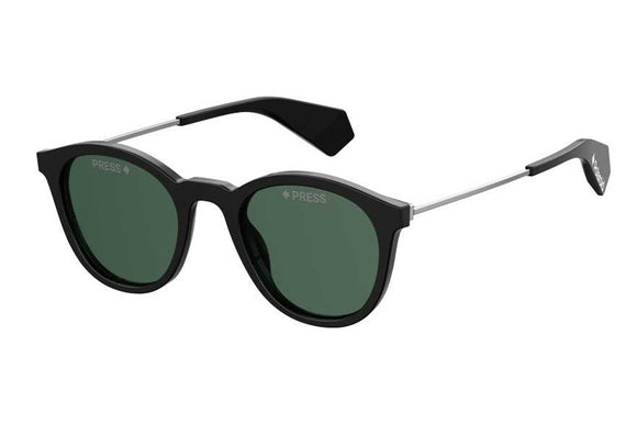 Polaroid PLD-6047SX-807-UC-51 Round Polarized Sunglasses Size- 51 Black / Green