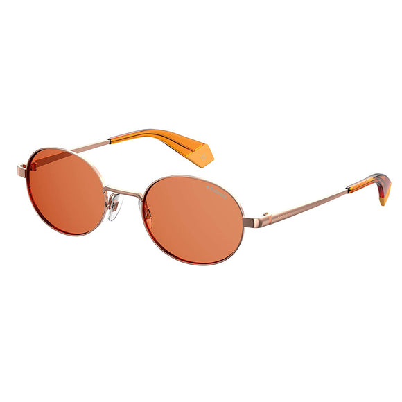 Polaroid PLD-6066S-OFY-HE-51 Round Sunglasses Size - 51 Orange / Brown