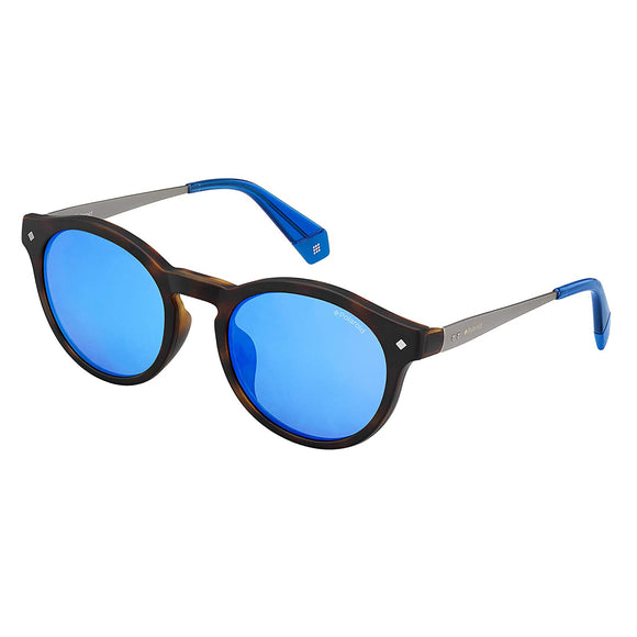 Polaroid PLD-6081/G/CS-IPR-5X-49 Round Sunglasses Size - 49 Brown / Blue