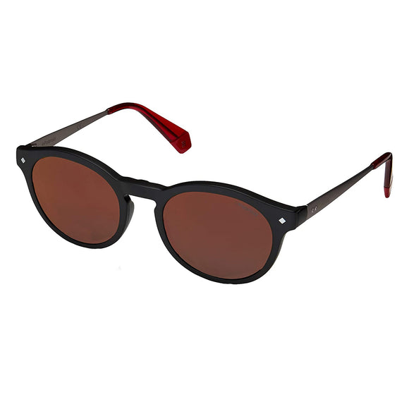 Polaroid PLD-6081GCS-OIT-5X-49 Round Sunglasses Size - 49 Black / Brown