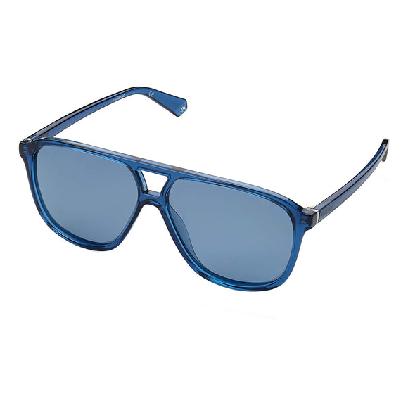 Polaroid PLD-6097S-PJP-XN-58 Rectangle Sunglasses Size - 58 Blue / Blue