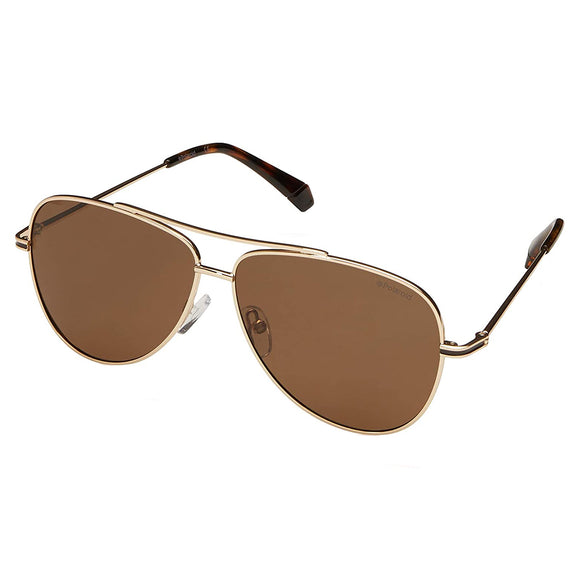 Polaroid PLD-6106/S/X-J5G-SP-59 Aviator Sunglasses Size - 59 Gold / Brown