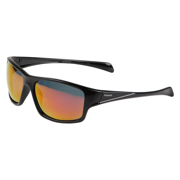 Polaroid PLD-7016S-807-OZ-61 Sports Polarized Sunglasses Size - 61 Black / Red Mirrored