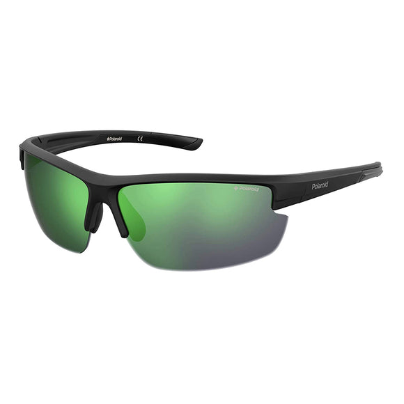 Polaroid PLD-7027S-3OL-5Z-72 Sports Polarized Sunglasses Size -72 Black / Green