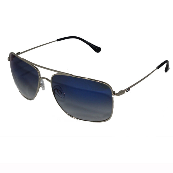 Tommy Hilfiger TH-1524-C1-62 Rectangle Sunglasses Size - 62 Silver / Blue