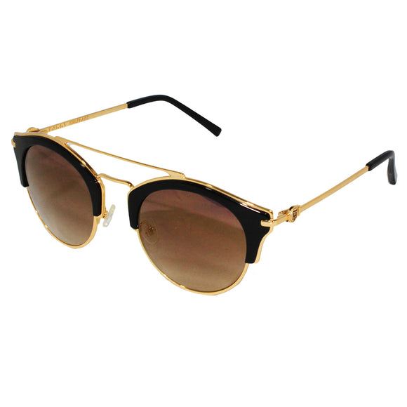 Tommy Hilfiger TH-9000-C1-49 Round Sunglasses Size - 49 Gold / Brown