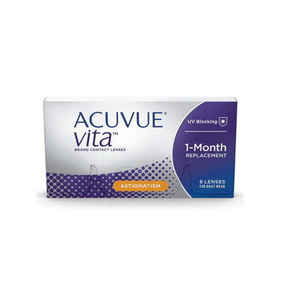 Johnson & Johnson ACUVUE VITA For Astigmatism Monthly Disposable Toric Contact Lenses (6 lens / Box)