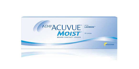 Johnson & Johnson ACUVUE Moist Daily Disposable Contact Lenses (30 lens / Box)