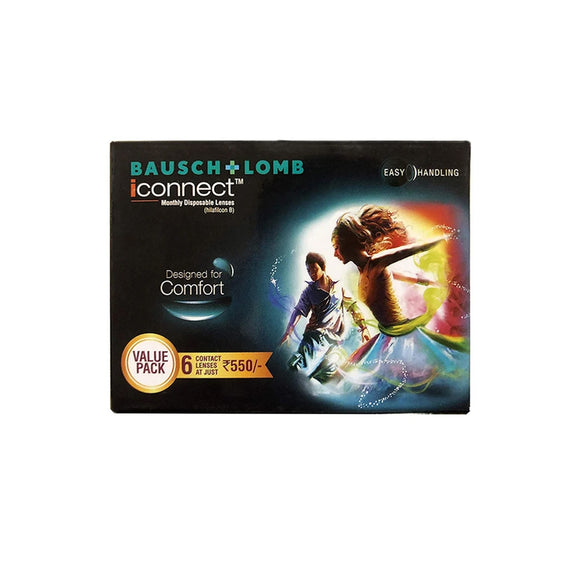 Bausch & Lomb iConnect Monthly Disposable Contact Lenses (6 lens / Box)