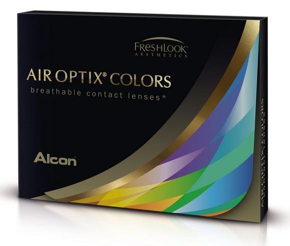 Alcon AIR OPTIX Colors Silicone Hydrogel Monthly Diposable Color Contact Lenses ( 2 Lenses / Box)