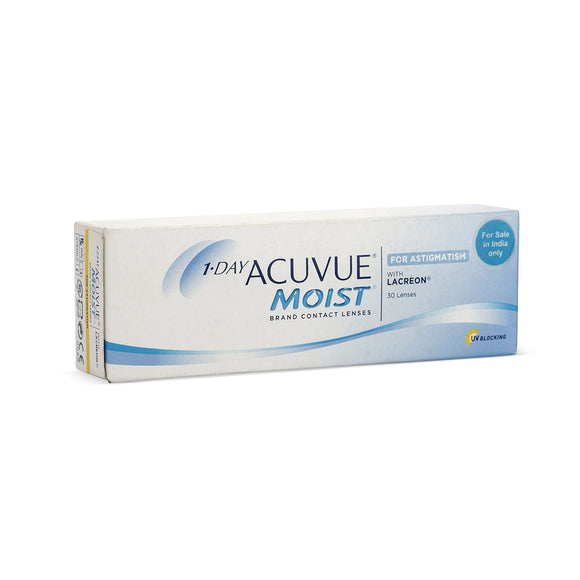 Johnson & Johnson ACUVUE Moist For Astigmatism Daily Disposable Toric Contact Lenses (30 lens / Box)