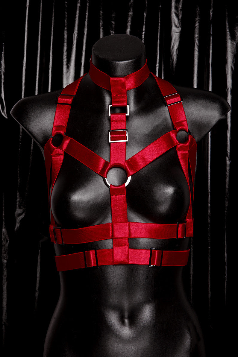 "*BLOODBATH* RED ""Collar"" Harness"