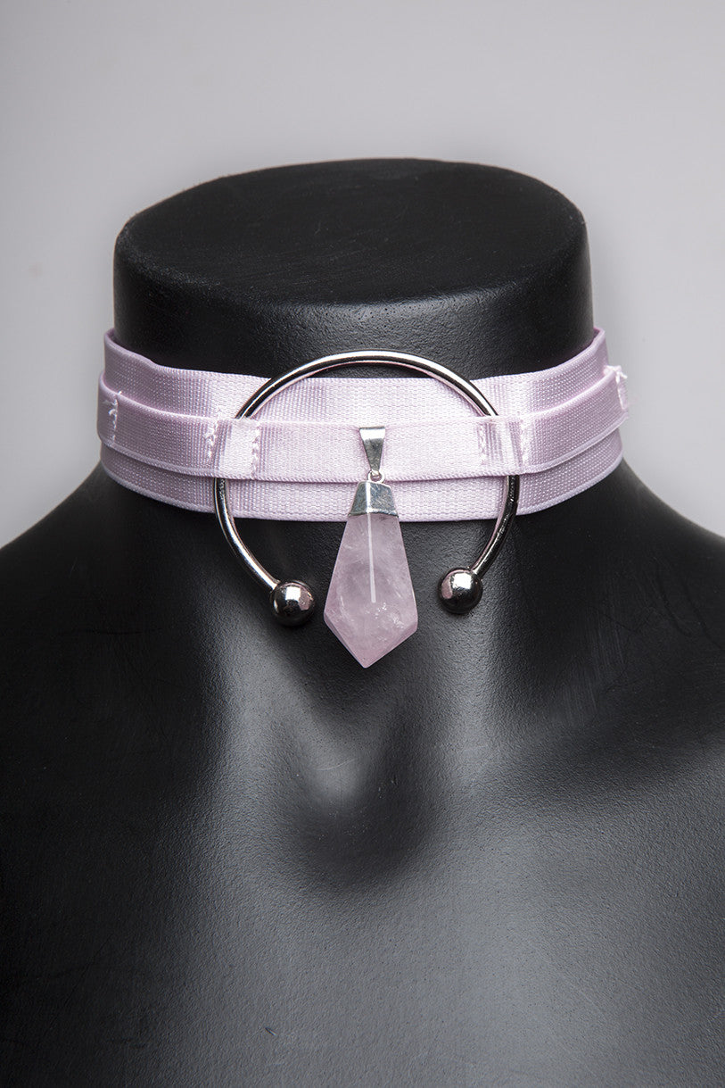 "Dusted Pink ""Triple Goddess"" Choker"
