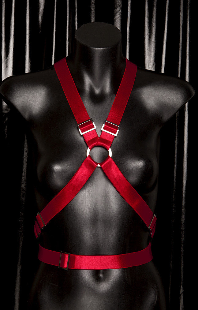 "*BLOODBATH* RED ""X"" Crop Harness"
