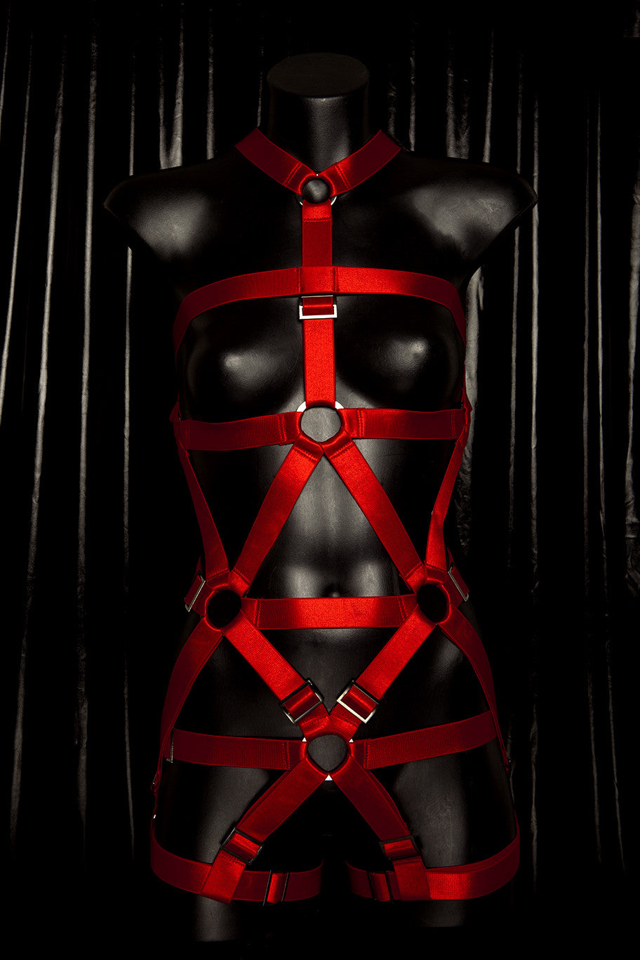 "*BLOODBATH* RED ""Blackmass"" Fullbody Harness"