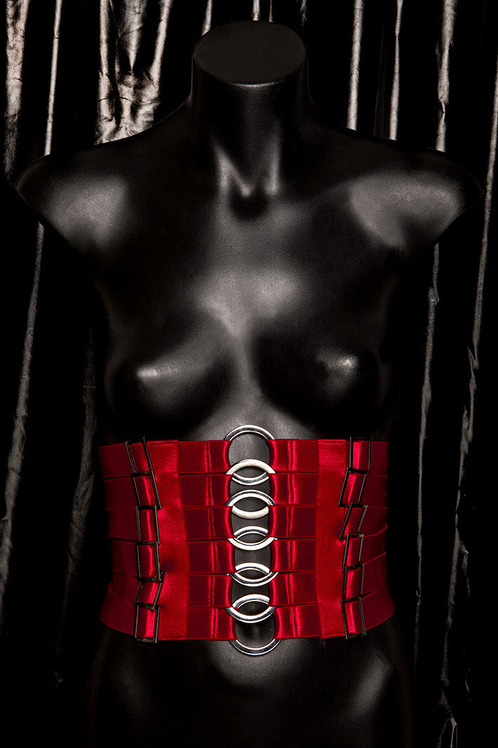 "*BLOODBATH* RED ""CORSET"" harness"