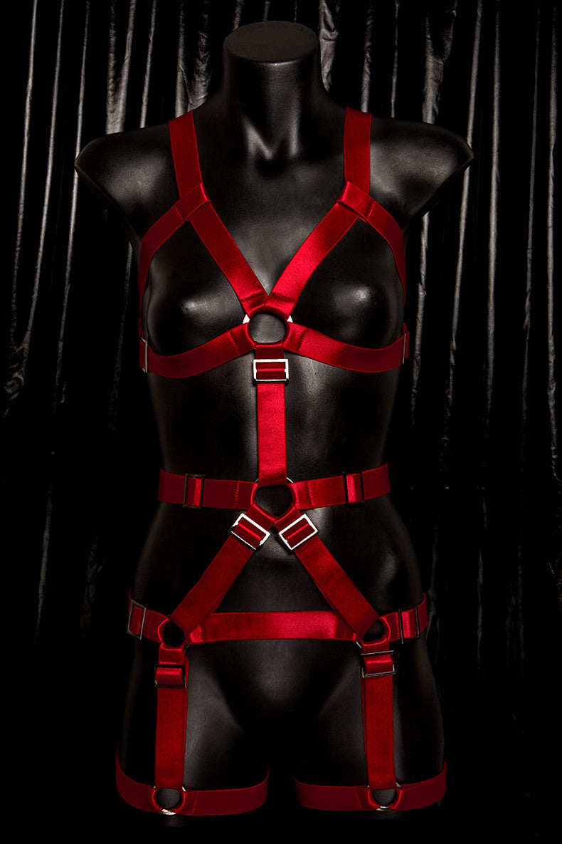 *BLOODBATH* RED 'Lucifer' Fullbody Harness