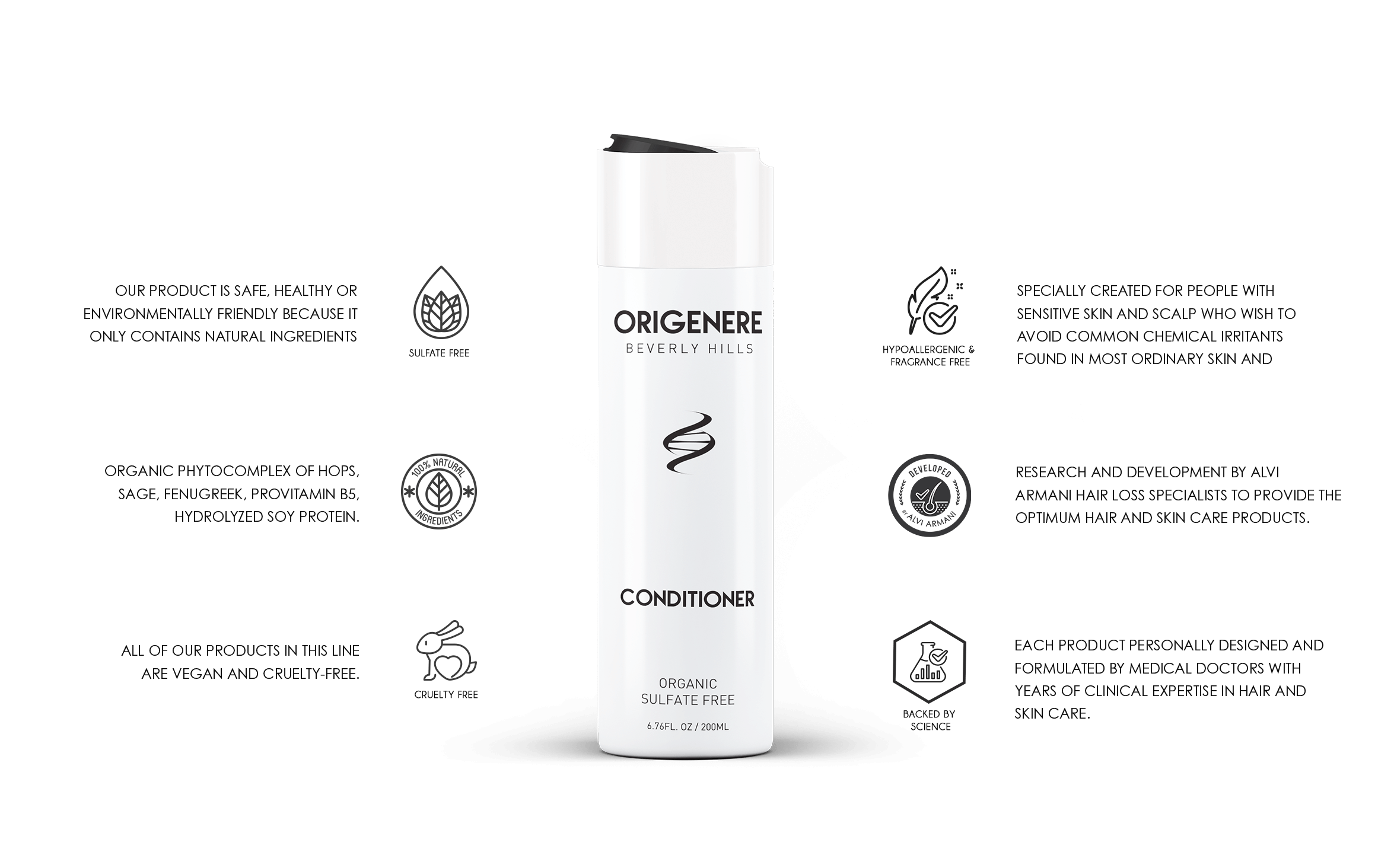 Origenere OrganoNutrient Conditioner for Hair Loss and Thinning Hair
