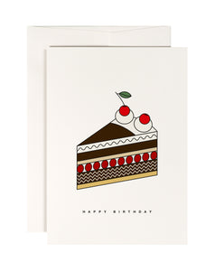 Cherry Cake Birthday Card
