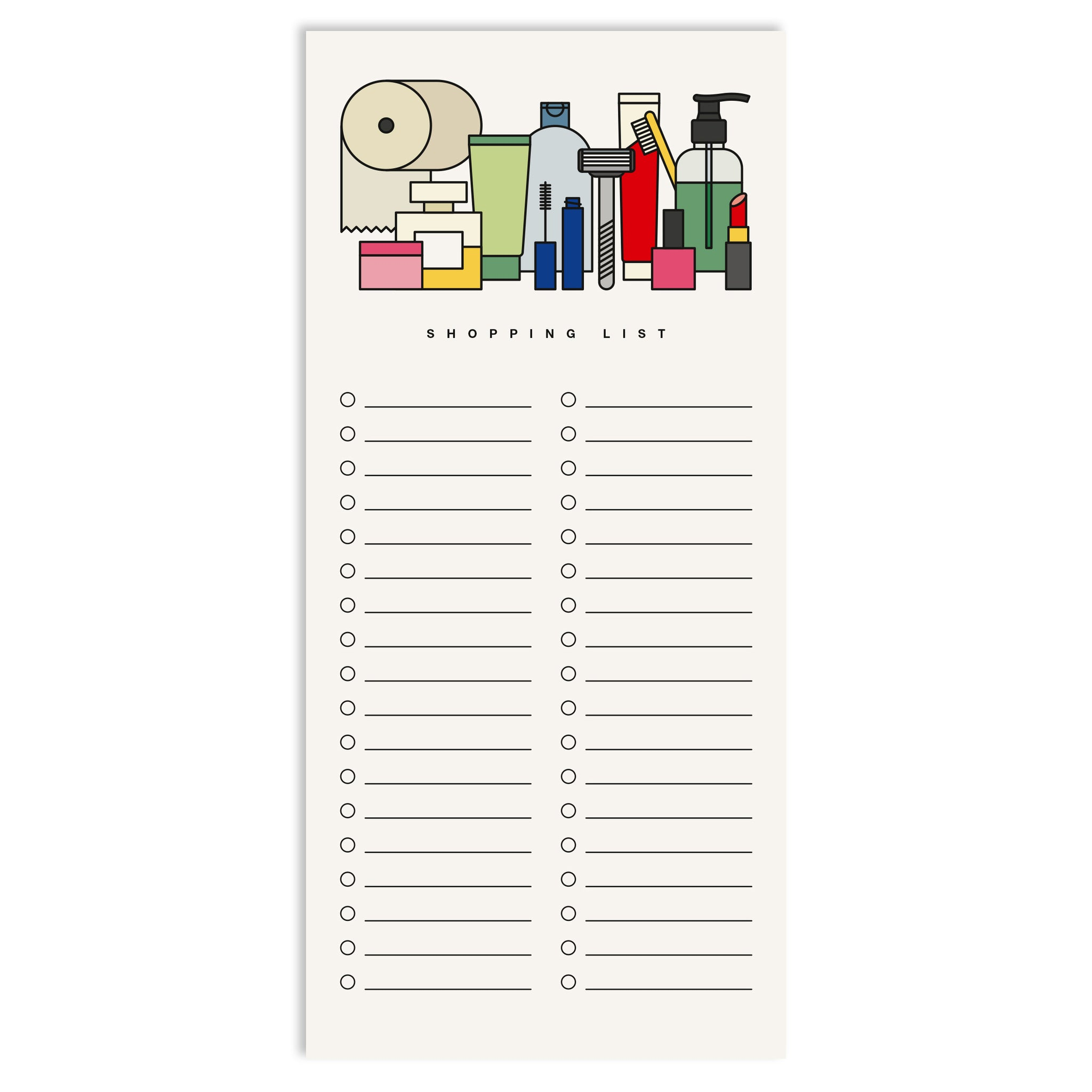 Drugstore List Notepad