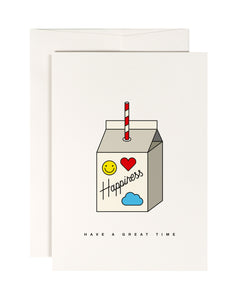 Happiness Juice Greetings Card